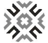 Floral Black Wool Rug 36227 5x8